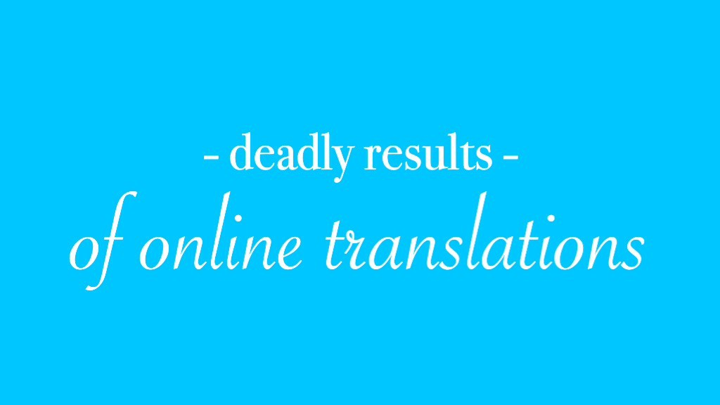Deadly results online translations